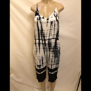 Anthropologie Cloth & Stone tie-dyed jumpsuit PM